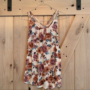 Tops - Floral Maternity Tank with Bow